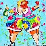 Fasloyu humoristique Comics Décoration DIY, 5d Broderie peintures Strass Collez-le Halloween DIY Diamant Peinture Décor Cadeau Series-fat Fille, Multicoloured, A