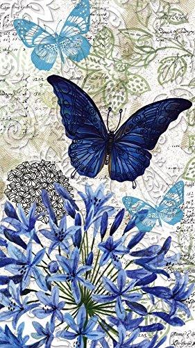 Cypress Home blau floral Studie Serviette, Papier, geprägt, 15Zählen Dinner Servietten Floral