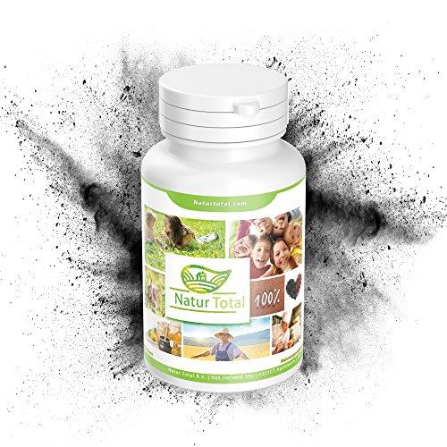 Natürliche Aktivkohle Kokosnuss Activated Charcoal: Kapseln mit 27g Medizinischer Aktivkohle (pharmazeutische Qualität) aus Kokosnussschalen - Zahnbleaching und Teeth Whitening (90)