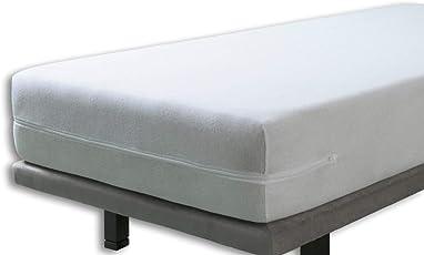 Velfont Matratzenbezug, elastische weisse Frottiergewebe