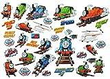 Unbekannt 35 tlg. XL Set: Fensterbilder / Sticker - Thomas die Lokomotive - Fensterbild Aufkleber für Kinderzimmer Zug Lok Eisenbahn Freunde Percy - Wandtattoo Wandsticker