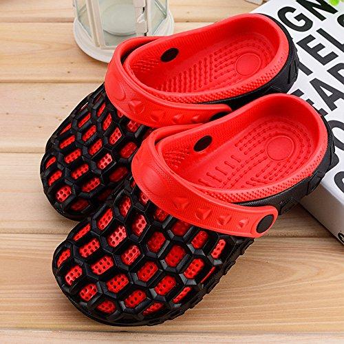 Eastlion EVA Paar Strand Garten Schuhe Sommer Mode Beiläufige halbe Hausschuhe für Liebhaber Männlich Stil 2 Rot