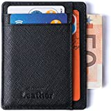 Wallet - RFID Blocking Ultimate Slim & Safe Minimalist By Mercor Leather - Premium Rugged Genuine PU Leather Material, Smart, Stylish & Space-Saving Design, 7 Slots For Credit Cards & Cash