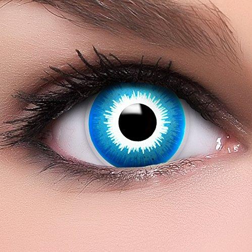 Farbige blaue Kontaktlinsen