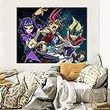 AJ WALLPAPER 3D Yu-Gi-Oh 184 Japan Anime Adesivi Murali Vinile Murales Stampare Arte | Autoadesiva Grande Adesivi Murali IT Zoe (Vinile (Senza Colla e Rimovibile), 【70.8' x 39.3'】 180x100cm(WxH))