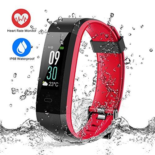 ESOLOM Pulsera Actividad, Pulsera Inteligente Pantalla Color Bluetooth Fitness Tracker Impermeable IP68 con Pulsómetros, Cardíaco Monitor para Hombres Mujeres Niños con iPhone Android
