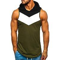 Xmiral Felpa con Cappuccio Senza Maniche T-Shirt Senza Maniche con Cappuccio - Bodybuilding Hooded Shirt