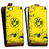 DeinDesign Apple iPhone 5s Tasche braun Hülle Flip Case karamell Borussia Dortmund BVB Fanartikel