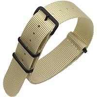 AUTULET 18-24mm Coloré Remplacement NATO Bracelet Bande Montre Nylon balistique pour Les Hommes