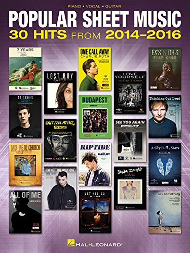Popular Sheet Music - 30 Hits from 2014-2016 (Piano Vocal Guitar Book)