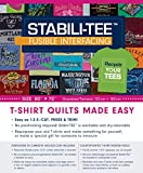 Stabili-tee Fusible Interfacing Pack, 60 Inches X 72 Inches: T-shirt Quilts Made Easy