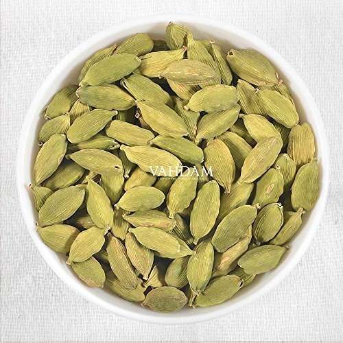 Find Cardamom Pods Whole - Pure Green, Fresh & Flavoury, 2016 Harvest, 100% Pure Indian (7.05oz / 200g) - Vahdam Teas