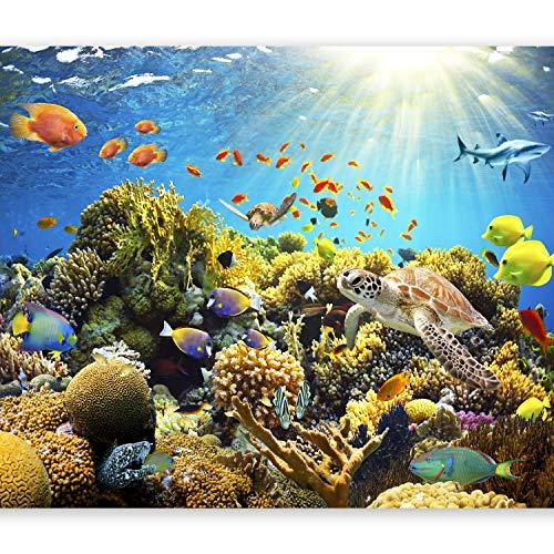 murando Papier peint intissé 350x256 cm Trompe l oeil - Tableaux muraux - Déco - XXL- nature poisson b-A-0002-a-a