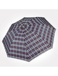 LWFB Paraguas / plegable / a cuadros / a prueba de viento / paraguas portátil de