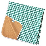 Non Slip Splash Mat by TotsAhoy!® Large Under Highchair Baby Weaning Floor Protector (Aqua Chevron)
