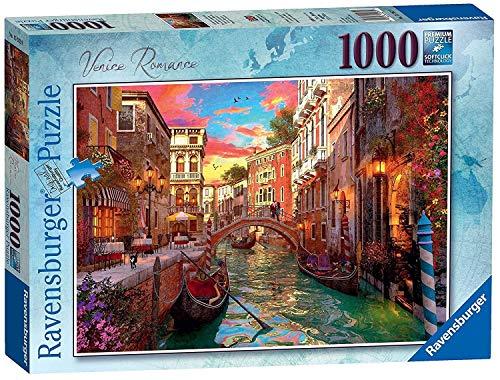 Ravensburger-15262 Romantik in Venedig  -  Puzzle, 1000 Teile