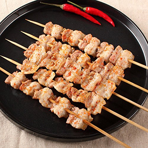 61tKsZVx40L - Lumanuby 90 x Holz Grillspieße Marinaden Sticks, Einweg-Grill Utensilien Bambus Party Sticks, Perfekt für BBQ Fleisch, Steaks Vieles Mehr (30 cm)