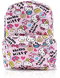 Finex White Hello Kitty Canvas Backpack With Laptop Storage Compartment For School College Daypack Causal Travel...