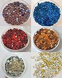 New Nail Art Set Sterne 300 Stück in 6 verschiedenen Farben Silber