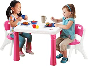 Step2 Life Style Kitchen Table and Chairs Set, Pink