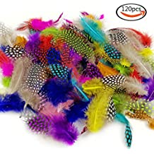 JPSOR 120pcs plumas de manchas coloridas de 8-15cm, 10 colores, utilizada para DIY, joyerías y decoración de ropa, etc