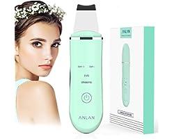 Épurateur Ultrasonique de Peau, ANALN Épurateur Visage Skin Scrubber Nettoyage Pore Cleaner Ultrasons Vibration