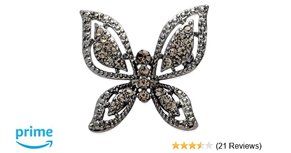 Jodie Rose Crystal Butterfly Brooch TFgM3OS