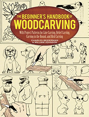 The Beginner's Handbook of Woodcarving: With Project Patterns for Line Carving, Relief Carving, Carving in the Round, and Bird Carving (Dover Woodworking) (English Edition) -