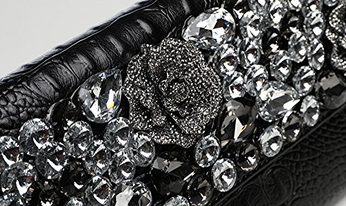 Diamant Handtaschen, Handtaschen, Mode trendy Groß-Ledertasche, Bankett Abendessen Paket ( Farbe : Weiß ) Weiß