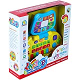 Samaira Toys ABC And 123 Learning Fun Interactive Laptop Toy For Kids Along With Music And Other Play Activities