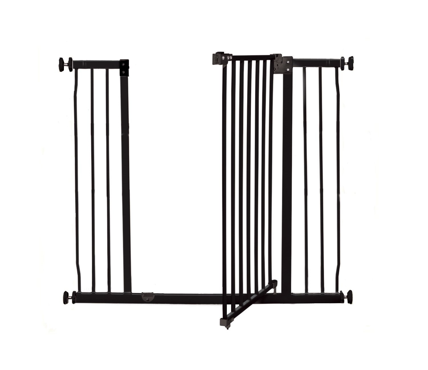 Dreambaby Liberty Xtra-Tall & Wide Safety Gate (Fits 99cm-106cm) Black Dreambaby MEASURE YOUR OPENING BEFORE PURCHASING - This gate ONLY fits openings 99 to 106 cm. It will not fit any opening smaller than 99 cm. If your opening is larger than 106 cm you will require an additional purchase of an extension. VERSATILE AND DEPENDABLE- Our Dreambaby Liberty gate is loaded with features to not only help make your life easier but safer too. Versatile indeed, it can accommodate openings of 99 to 106 cm wide and is 93 cm tall. Using optional extensions sold separately, the gate can be extended up to 306 cm. ONE HANDED OPERATION - The One-Handed operation is fantastic for times when you're holding your child and the double locking feature ensures extra security to help keep your child safer. 2