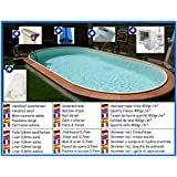 Stahlwandbecken Spar Set oval sandfarben 3,20m x 6,00m x 1,50m Folie 0,8mm Pool Pools Ovalbecken Ovalpool