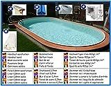 Stahlwandbecken Spar Set oval sandfarben 3,20m x 6,00m x 1,50m Folie 0,8mm Pool Pools Ovalbecken Ovalpool
