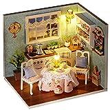 LianLe Puppenhaus Glück Küche DIY mit Licht Kinder Geschenk