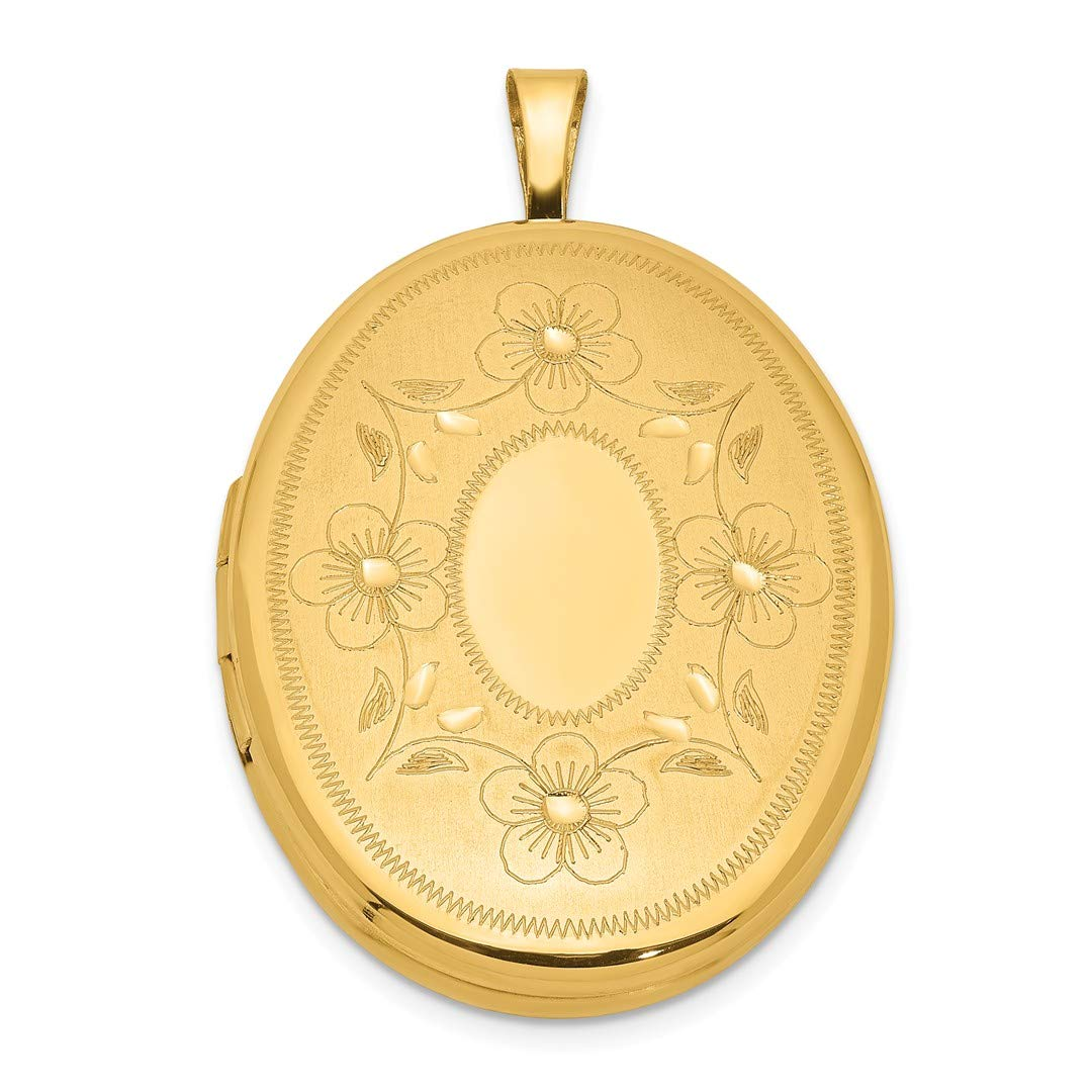 1/20 Gold Filled 26mm Oval Photo Pendant Charm Locket Chain Necklace That Holds Pictures Fashion Jewellery For Women…