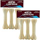 Meat Up Pressed Chew Bones, Dog Treats, 6 inches - Pack of 3 Bones (Buy 1 Get 1 Free)