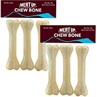 Meat Up Pressed Chew Bones, Dog Treats, 6 inches - Pack of 3 Bones (Buy 1 Get 1 Free)