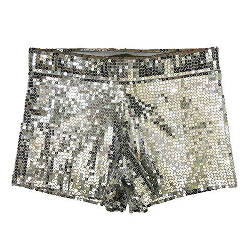 Babyicon Damen Sexy Sequins Shorts Hot Hosen Tanz Hip Hop Jazz Sänger Nachtclub (S, ()