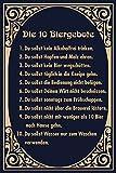 Die 10 Biergebote lustig bier regeln blechschild