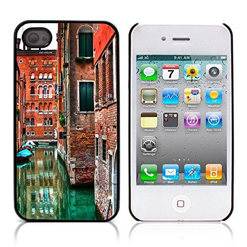 Graphic4You Manarola Italy Postkarte Ansichtskarte Design Harte Hülle Case Tasche Schutzhülle für Apple iPhone 4 und 4S Venice #1