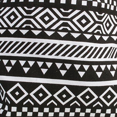 K.B. Barrow ,  Damen Rucksackhandtaschen Schwarz/Weiß