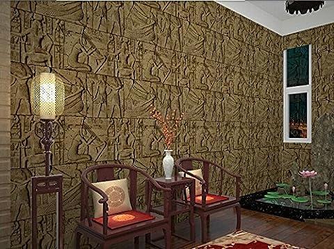 300cmX250cm Hohe Qualität geprägte Wallpaper 3D Ägypten antike Wandmalereien der klassischen Skulptur vintage PVC Vinyl Wandbelag wasserdicht