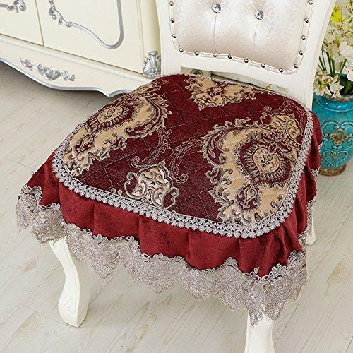 LJ&XJ Europäische Retro Speisesaal Stuhl Kissen, Anti-Rutsch Einfache Dick Weich Seat sitzkissen, Gemütlich Atmungsaktive Stuhl-Pads-R 45x45cm(18x18inch)