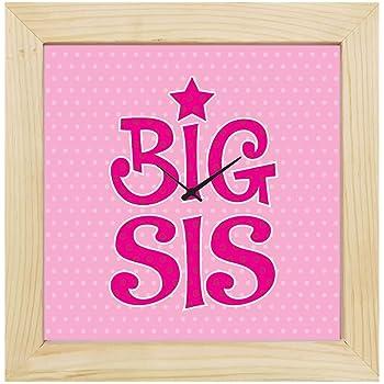 YaYa Cafe 8x8 inches Birthday Gifts for Sister, Wall Clock Big Sis Canvas Rakhi