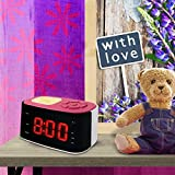 Metronic 477028 Gulli Radio Réveil/Veilleuse pour Enfant avec Port USB - Rose et Blanc
