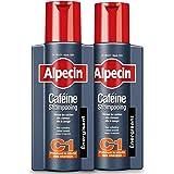 Alpecin Caféine Shampooing C1 2x 250ml | Shampoing anti chute de cheveux homme | Cheveux traitement calvitie | Alpecin caféin