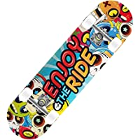 Skateboard 31 x 8 pollici Double Kick completo per principianti Bambini Ragazzi Ragazze Adulti Ragazzi, 7 strati…