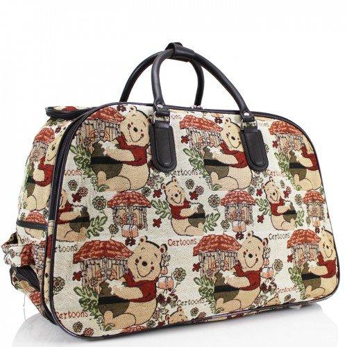 ydezire® donna borsa da viaggio bagaglio borsone Weekend vacanze borsa trolley New White