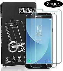 Supnew Samsung Galaxy J5 2017 Panzerglas, [2 Stück] Samsung J5 2017 Schutzfolie, 9H Härte, HD Anti-Öl, Einfaches Anbringen, Kratzer, Blasen und Fingerabdruck