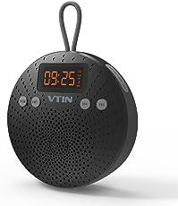VicTsing Bluetooth Lautsprecher, Mini Bluetooth 4.0 Speaker mit FM Radio 5W Tragbarer Wasserdichte Wireless Lautsprecher mit Wecker Funktion Freisprecheinrichtung für Outdoor, Dusche für iPhone iPad F